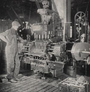 antique car block engine boring machine