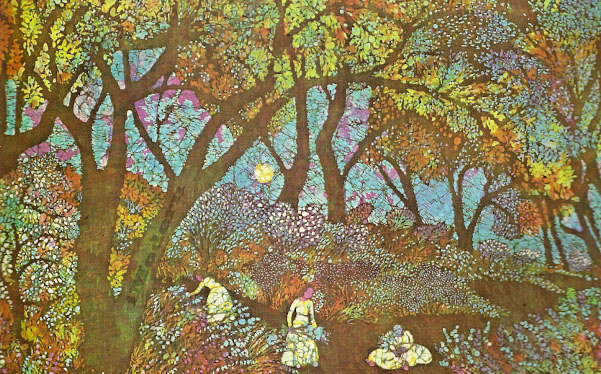 Modern Batik Art Memory Garden By Juliet Boyle